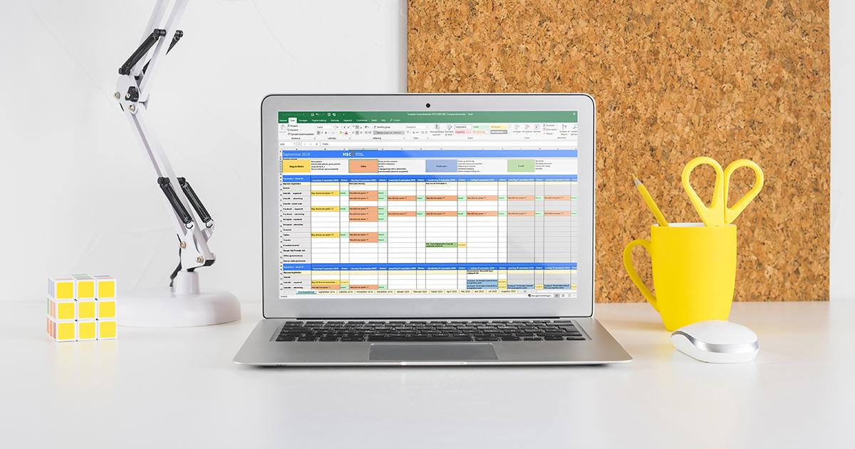 Contentkalender voor evenementen