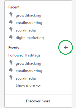 hashtags LinkedIn events - trends 2020