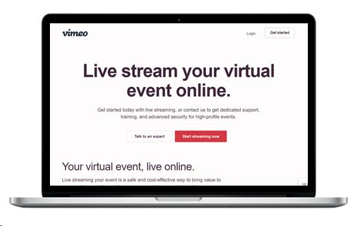 Livestream by Vimeo tool
