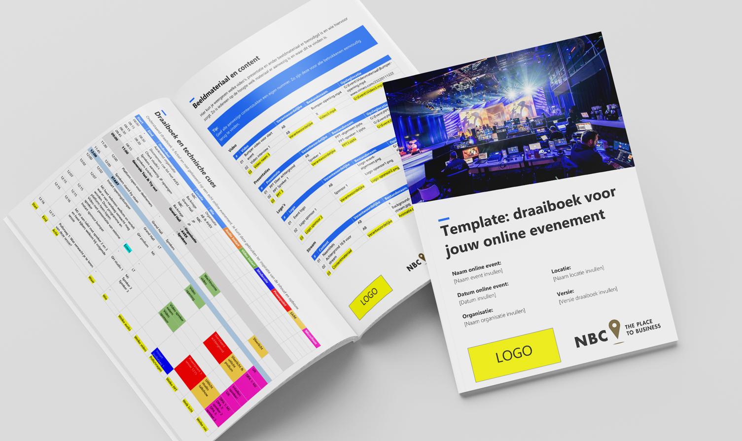 online event draaiboek template